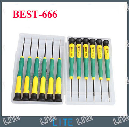 Free Shipping Best-666 T2 T3 T4 T5 T6 T8 PH00 PH000 5 star pentalobe screwdriver for iphone mobile laptop samsung blackberry(China (Mainland))