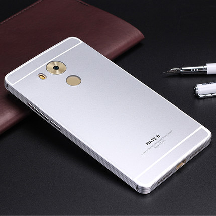 Luxury For Huawei Mate 8 Case Alluminum Metal Frame + Plastic Cover Back Case For Huawei Mate 8 Mate8 With Screen Film Protector(China (Mainland))