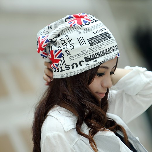 Flag hat women's hat female outdoor turban cap windproof hat millinery hiphop cap(China (Mainland))
