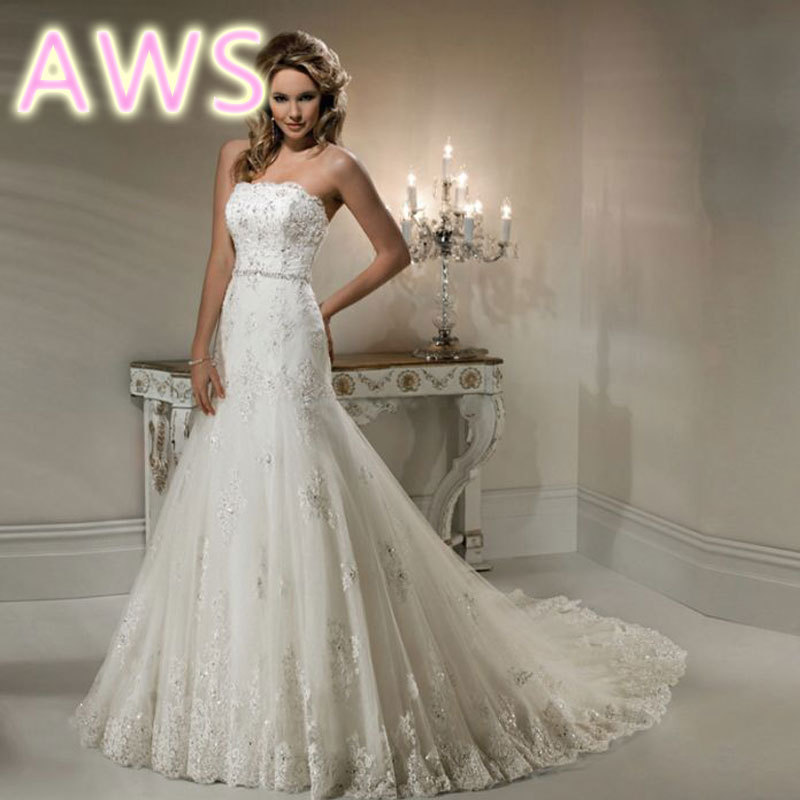Wedding Dresses  Free Shipping : Free shipping new wedding dress sexy romantic