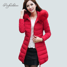 Womens Winter Jackets And Coats 2016 Thick Warm Hooded Down Cotton Padded Parkas For Women's Winter Jacket Female Manteau Femme(China (Mainland))