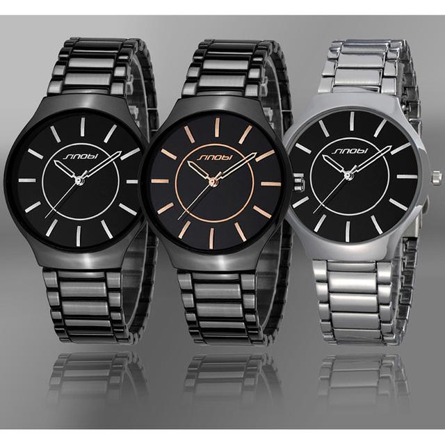 Zegarek męski SINOBI elegancka prosta forma różne kolory