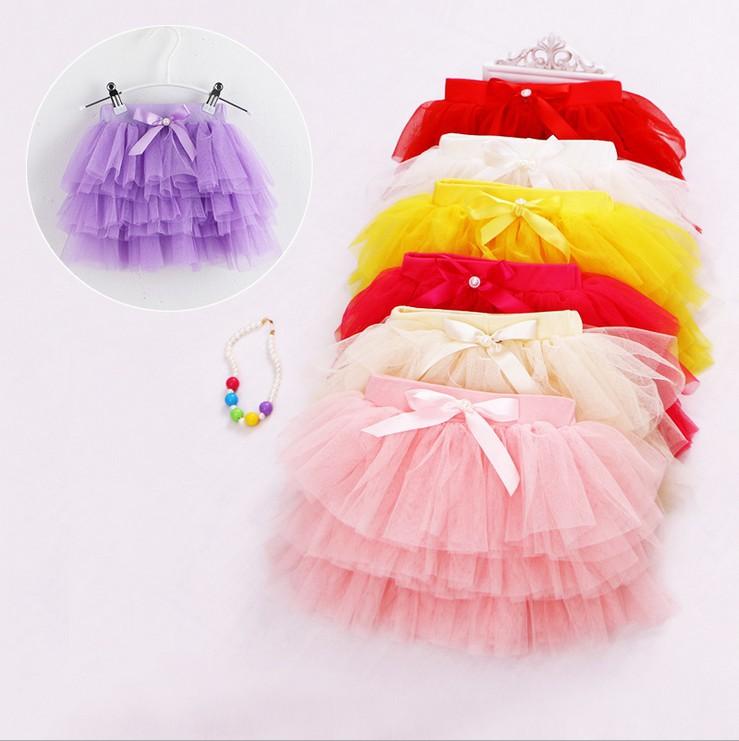 2015 Children's Day Summer Girl Tutu Skirt Kids Baby Princess Lace Cake Skirt(China (Mainland))