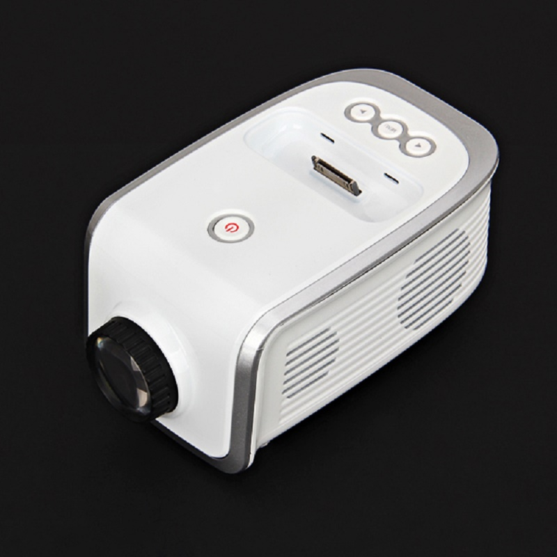 EPI001 Fashional Mini Portable Projector for Iphone for Ipod Digital Project TV Wireless High-definition Home Theater UK Plug(China (Mainland))