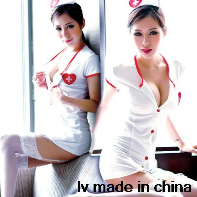 sexy nurse costume plus size sexy lingerie package hip skirt garter catsuit cosplay erotic lingerie sexy hot pole dance(China (Mainland))