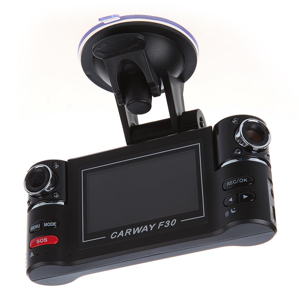 "Гаджет  Wisedeal F30 Dual Lens 2.7""  Car Dual Camera Night Vision HD Car  DVR Vehicle Black Box Driving Camcorder Video Recorder None Автомобили и Мотоциклы"