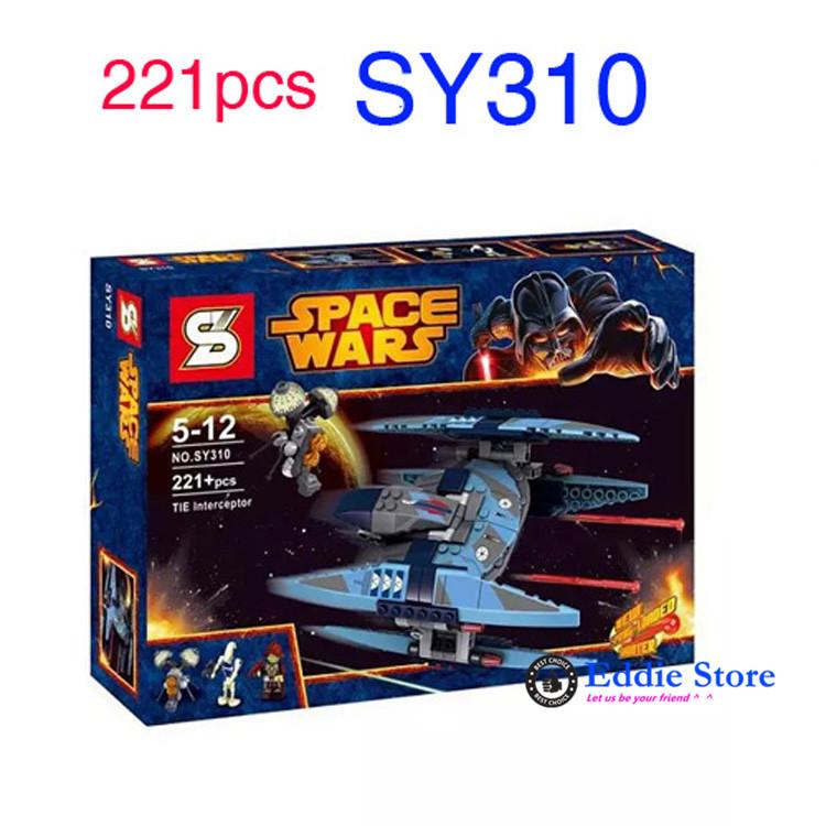 221pcs Star Wars Vulture Droid Buzz & Pilot Battle Droid Neimoidian Warrior Minifigures Building Blocks Compatible With Lego(China (Mainland))