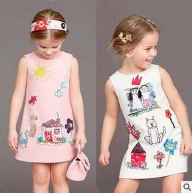 Kimocat summer hot style fashion high end custom without strings cartoon  sleeveless dresses of the girls. Online Get Cheap Fashion Girl without Dress  Aliexpress com