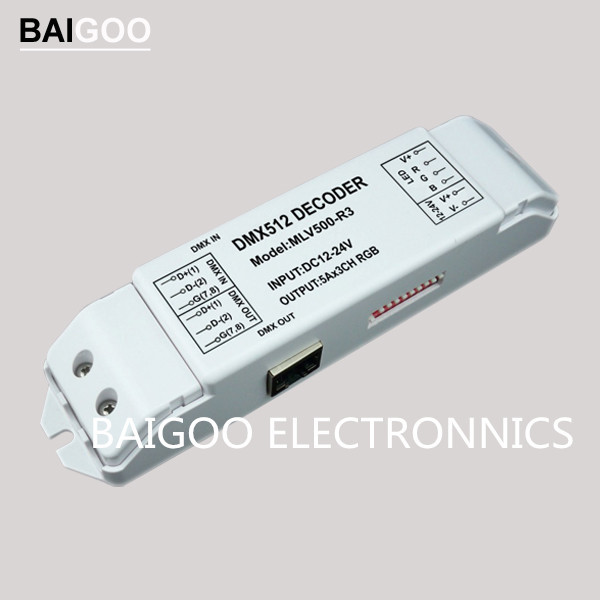 RGB DMX DECODER WITH RJ45 CONNECTION 5A 12-24VDC 180-360W(China (Mainland))