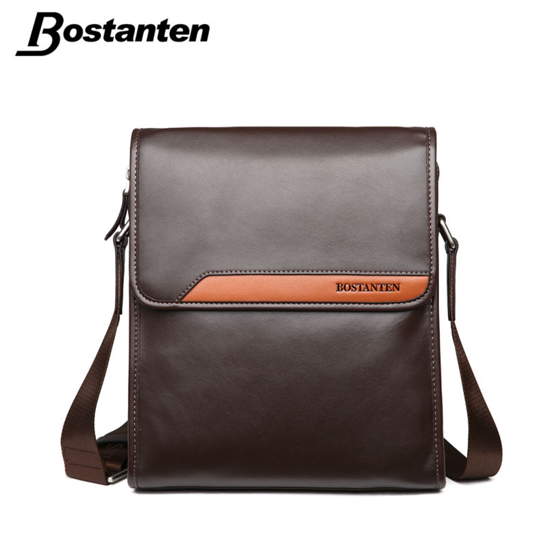 Bostanten Thread Hot Sell Men Messenger Bags Split Leather Vintage Bag Fashion Shoulder Bag Famous Brand Design Leather Men Bag(China (Mainland))