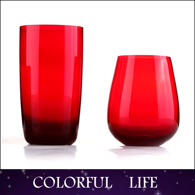 High-grade,100%Handmade Ruby crystal Whiskey Cup,glass,gifts for firend ,Juice /Tea Cups,Kitchen,Dining Barware(China (Mainland))