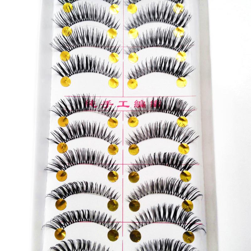 10Pair/Lot Thick False Eyelashes Eyelash Lash Extensions Voluminous Makeup Fake Eyelashes For Building Individual False Eelashes(China (Mainland))
