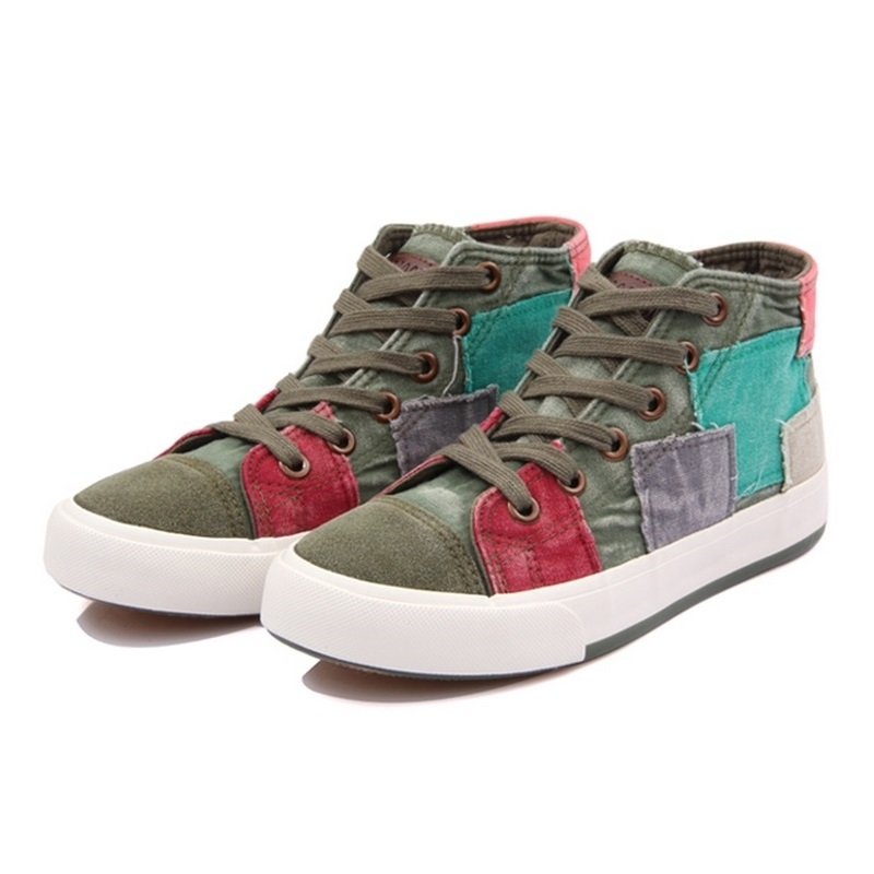 New Style Dropship Women Classic High Canvas Shoes Sneakers for Lady Wholesale Casual Shoes Colorant All Match High Denim Shoes(China (Mainland))
