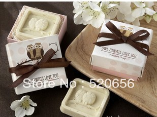 Fedex Free shipping owl scented soap savon wedding soap favors wedding gifts wedding souvenirs baby shower favor gift(China (Mainland))