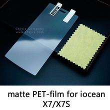 Glossy Clear Lucent Frosted Matte Anti glare Tempered Glass Protective Film Screen Protector For iocean X7 HD X7S Elite X7ST