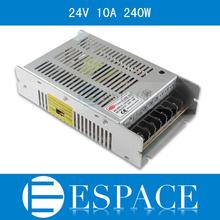 Beste qualität 24v 10a 240w schaltnetzteil treiber für led streifen ac 100-240v Eingang dc 24v versandkostenfrei(China (Mainland))