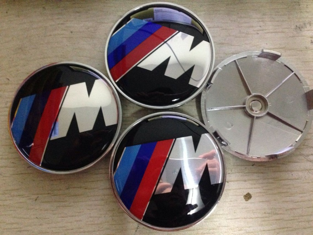2015 HOT High quality 4pcs/lot 68mm chrome M logo wheel hub center caps car covers for car badges emblem decoration car-styling(China (Mainland))