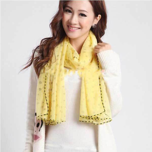 BigBee Cheap Solid Color Polka Dot Lady Scarf Shawl Wraps(China (Mainland))