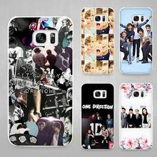 Buy One Direction 1D Hard White Coque Shell Case Cover Phone Cases Samsung Galaxy S4 S5 S6 S7 Edge Plus for $1.49 in AliExpress store