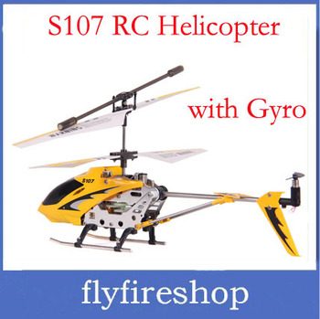 Wholesale s107 Helicopter Metal 3CH RC Helicopter,Remote Control Helicopter,rc helicopter gyro Free Shipping