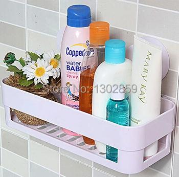 2015 New Chromophous double suction cup bathroom shelf storage rack kitchen sundries rack