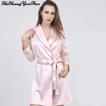 Women Long Loose Nightgowns Silk Sleepshirts Sleepwear Cute Girl'S Underwear Nightdress Sleep Lounge Women Nightwear Pijamas 832(China (Mainland))