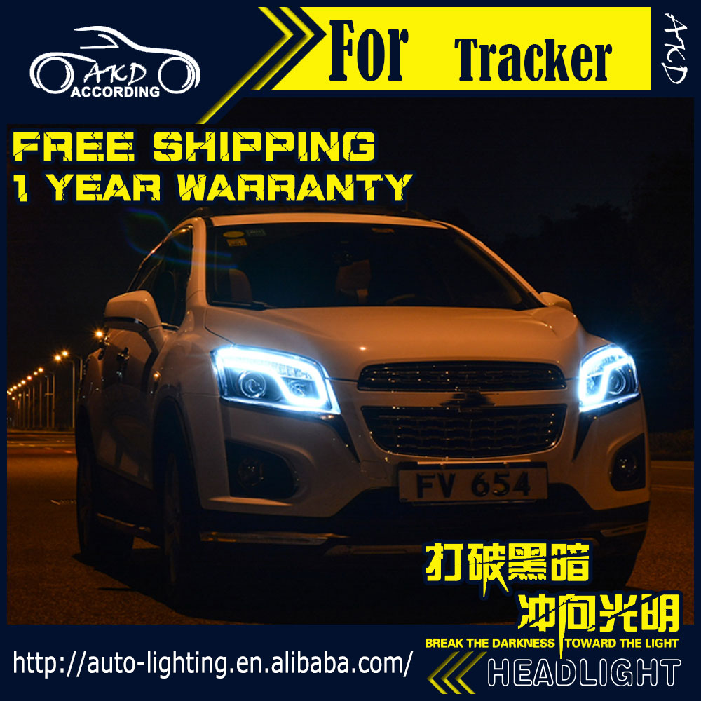 Car Styling Head Lamp for Chevrolet Trax LED Headlight 2014-2015 Tracker LED DRL Daytime Running Light Bi-Xenon HID Accessories(China (Mainland))