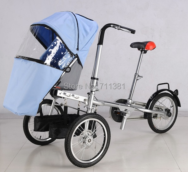 Lowest Price And Fast Delivery Bike Stroller For Child And Parents Baby Stroller And Bicycle 2 in 1 Hot Selling 2014(China (Mainland))