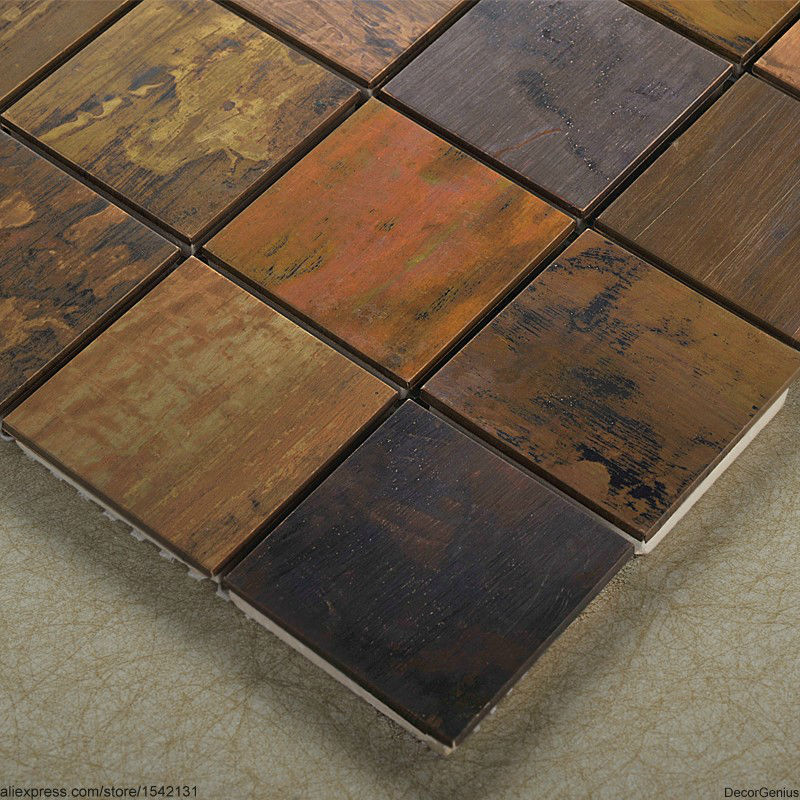 decorative copper wall panel wall art tile wooden like