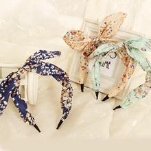 2015 New Arrival Fashion Butterfly Bow Flower Hair Garland Lovely Rabbit Ear Headband for Headwear Women