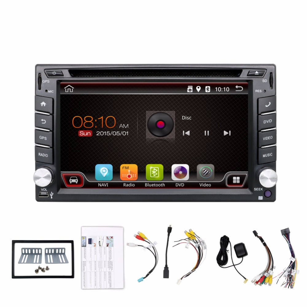 Universal 2 din Android 4.4 Car DVD player GPS+Wifi+Bluetooth+Radio+DDR3+Capacitive Touch Screen+3G+car pc+aduio Quad Core 16G(China (Mainland))