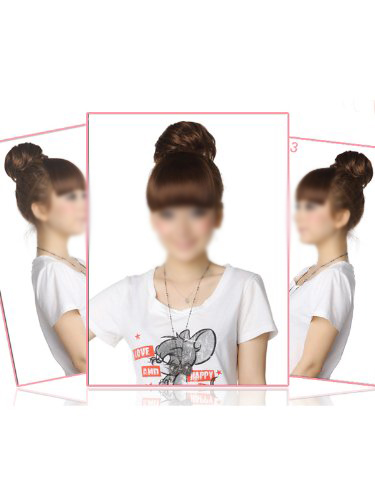 2015 Hot Woman Hairpiece Hair Bun Wig Topknot Wigs(China (Mainland))