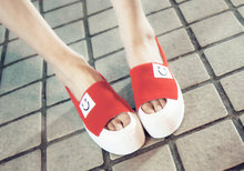 2015 Summer fish head shoes platform shoes casual shoes Smliey Thick sole shoes(China (Mainland))