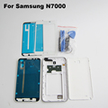 White Full Housing For Samsung Galaxy Note1 N7000 i9220 Front Frame Middle Frame Battery Cover front