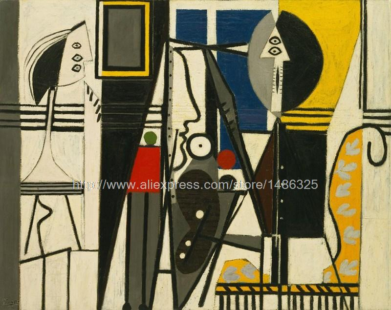Tuscan Landscape Paint Abstract Modern Painting Picture Painter And Model Picasso Cubist Painting Abstract Figure(China (Mainland))
