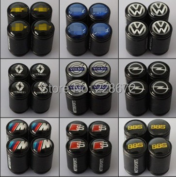 Wholesale 10SETS/LOT Black Frosted Matte Car Emblem Badge Wheel Tire Valve Cap Awesome Lightweight Tyre Dust Cap(Can Mix Order)(China (Mainland))