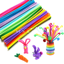 100pcs/Set Chenille Stems Colorful Sticks Kids Toy Kindergarten DIY Handcraft Material Creative Kids Educational Toys Wholesale(China (Mainland))