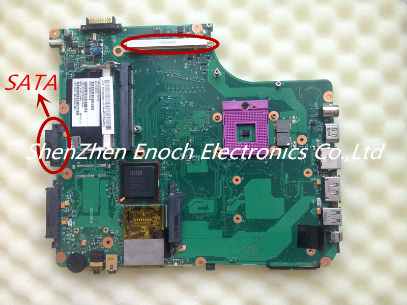 For Toshiba Satellite A300 A305 A350 Laptop Motherboard NON-Integrated V000127040 6050A2171501 SATA DVD(China (Mainland))