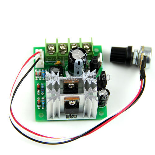 W110Free Shipping 6V/12/24V 10A Pulse Width Modulator PWM DC Motor Speed Control Switch Controller(China (Mainland))