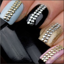 500pcs/bag 2MM 3MM 5MM 6MM 3D Design Nail Art Rhinestone Decoration Stickers Metallic Studs Gold & Silver Stud 02E4