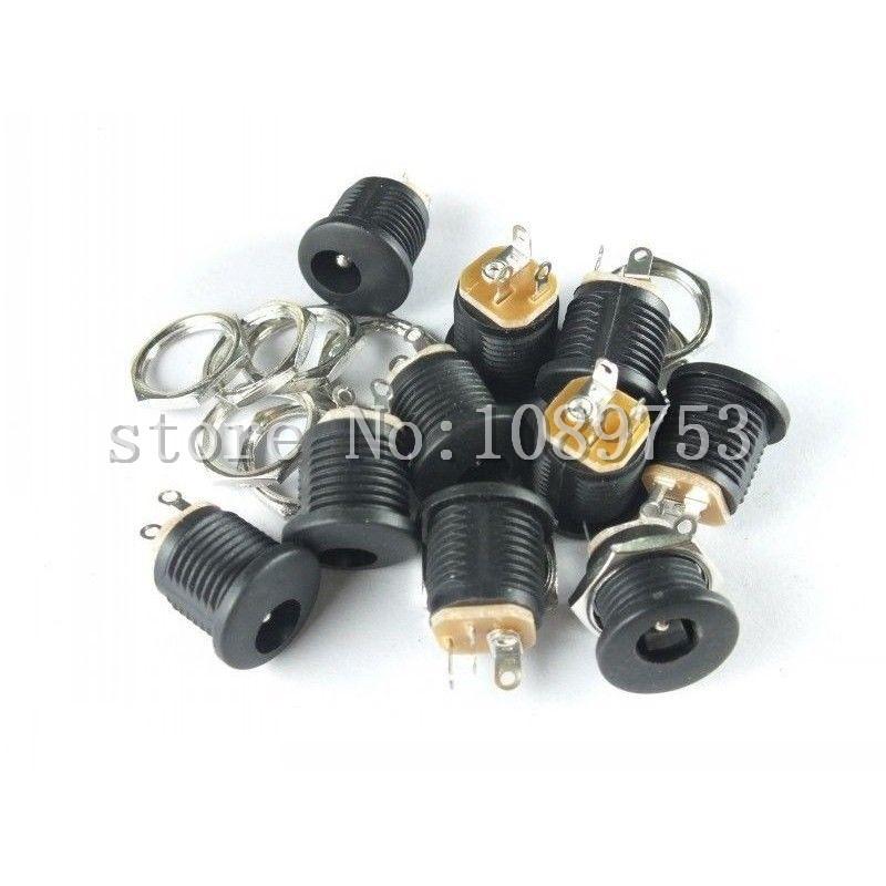 50pcs x DC Power Outlet Jack Socket 5.5x2.1mm Diameter 5.5mm Inner Pin 2.1mm<br><br>Aliexpress