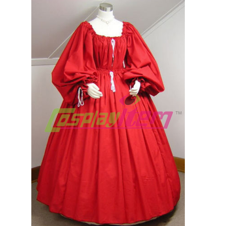 Customized Renaissance,Medieval,SCA,Civil War,Halloween Chemise &amp; Skirt Dress Gown red Gothic Victorian dress any sizeОдежда и ак�е��уары<br><br><br>Aliexpress