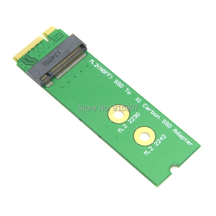 CY Mini PCI-E 2 Lane M.2 NGFF 30mm 42mm SSD to Lenovo X1 Carbon Ultrabook SSD Add on Cards PCBA(China (Mainland))