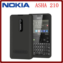 Original Nokia Asha 210 Unlocked GSM 2.4``Dual SIM Cards 2MP QWERTY Keyboard English Only Refurbished Mobile Phone Free Shipping(China (Mainland))