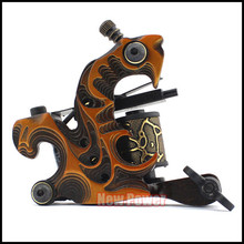 Yellow Color New Arrival Handmade Tattoo Machines 8 Wrap Coils Tattoo Gun For Shader for Tattoo Studio Professionals(China (Mainland))