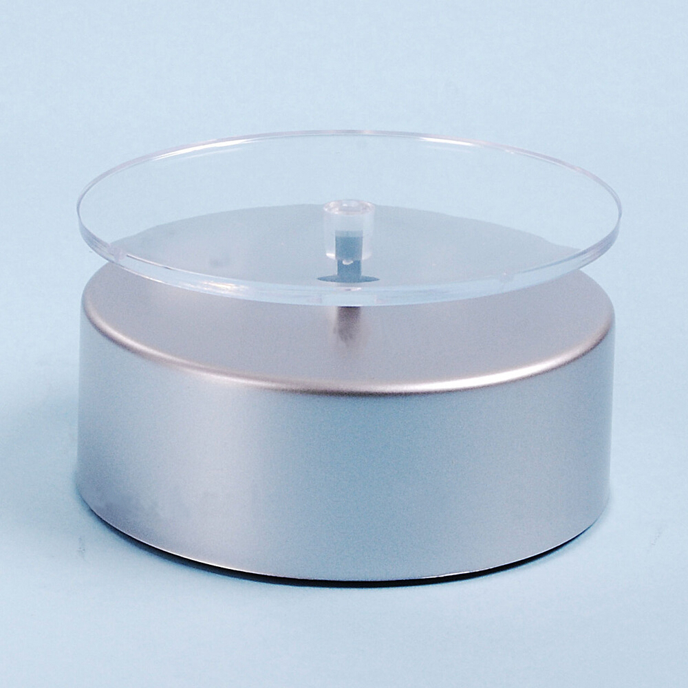 silvery simple rotating display turntable with jewelry cosmetic watch included an appropriate plug whosales Europe and America(China (Mainland))