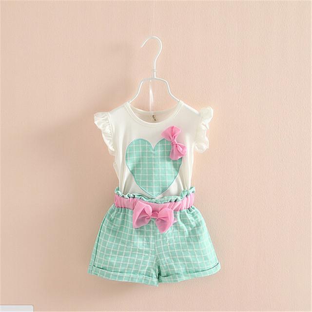 Бесплатная доставка 2016 новый летний детская одежда девушки устанавливает прекрасный ...