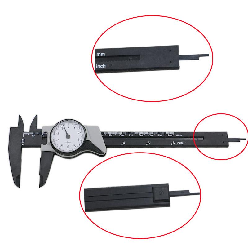 Dial Caliper 0-150mm / 0.1 Shockproof plastic Vernier Caliper Metric Micrometer Gauge Measuring Tool QSTEXPRESS(China (Mainland))