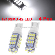 4 x T10 RV Trailer 12V LED Lights Bulbs high power 6000K Super White 42 SMD
