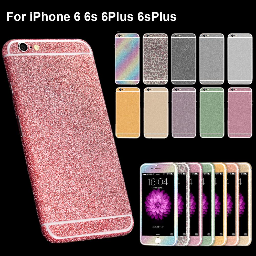 1xNew shining Diamond Glitter Bling Decals/Sticker/protector case skin flim sticker for iPhone 6/6s 4.7 6plus 6splus 5.5(China (Mainland))